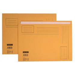 Vouwmap Quantore A4 ongelijke zijde 250gr geel