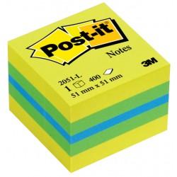 Memoblok 3M Post-it 2051L kubus 51x51mm lemon 400vel