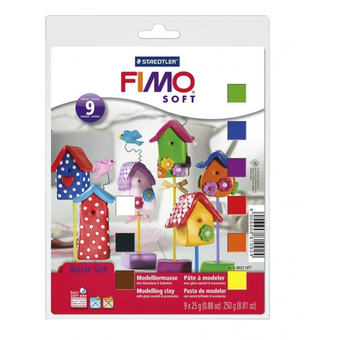 Klei Fimo  soft  basic halve blokken ass