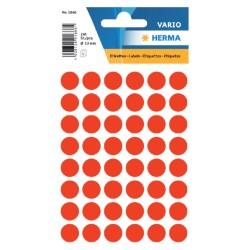 Etiket Herma 1866 rond 12mm fluor rood 240stuks