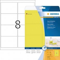 Etiket Herma 5144 99.1x67.7mm neongeel 160stuks