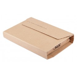 Wikkelverpakking CleverPack ringb +zelfkl strip bruin 10stuk