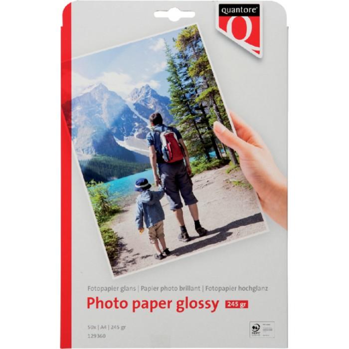 Fotopapier Quantore A4 250gr glans 50vel