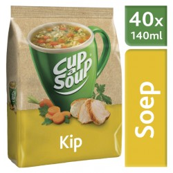 Cup-a-soup machinezak kip met 40 porties