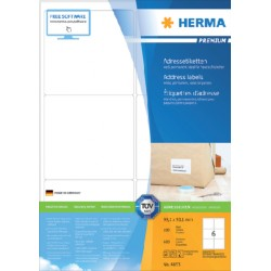 Etiket Herma 4253 99.1x93,1mm premium wit 600stuks