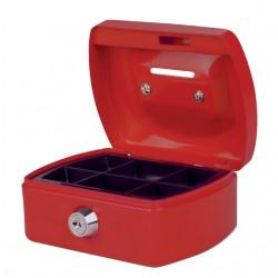 Geldkist Pavo met gleuf 125x95x60mm rood
