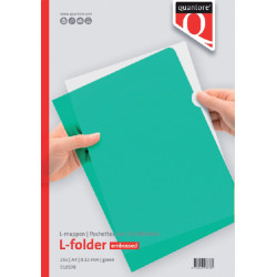 Insteekmap L-model Quantore A4 PP 0.12mm groen 25 stuks