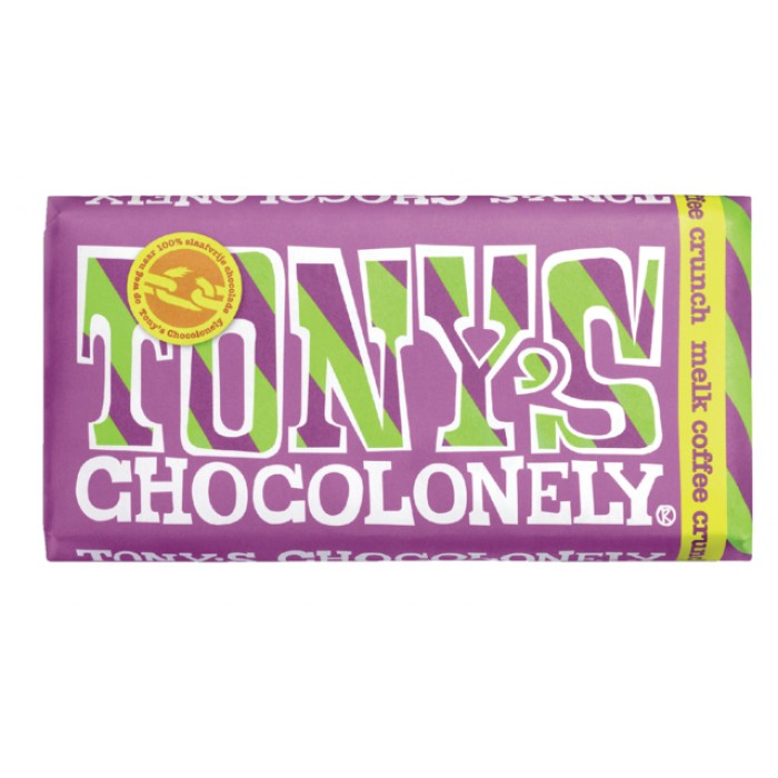 Chocolade Tony's Chocolonely reep 180gr melk coffeecrunch