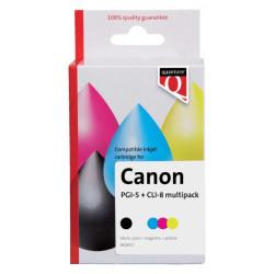 Inktcartridge Quantore Canon PGI-5 CLI-8 zwart + 3 kleuren