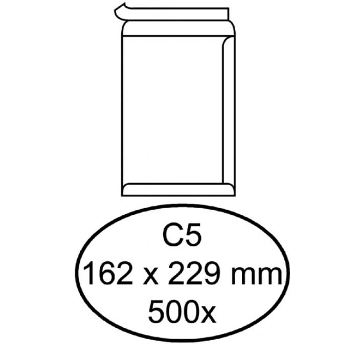 Envelop Hermes akte C5 162x229mm zelfklevend wit 500stuks