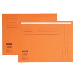 Vouwmap Quantore A4 ongelijke zijde 250gr oranje