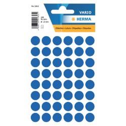Etiket Herma 1853 rond 13mm donkerblauw 240stuks