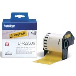 Etiket Brother DK-22606 62mm 15-meter gele film
