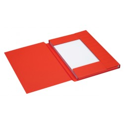 Dossiermap Jalema Secolor folio 3 kleppen 225gr rood