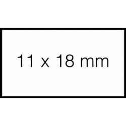 Prijsetiket 11x18mm Sato PB1 permanent wit