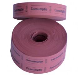 Consumptiebon Combicraft 57x30mm 2-zijdig 2x1000 stuks rood