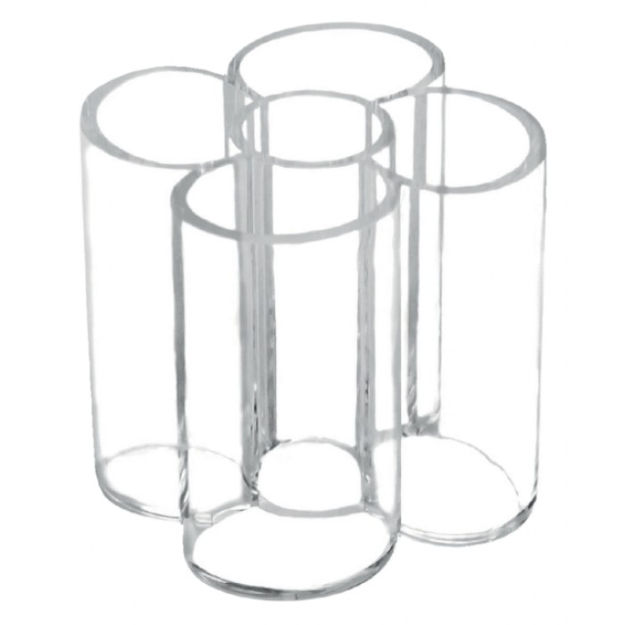 Pennenkoker Maul 5 vaks acryl glashelder