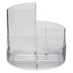Pennenkoker MAUL roundbox 6 vakken transparant