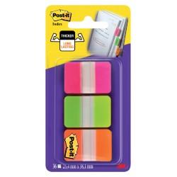 Indextabs 3M Post-it 686PGOT strong roze/groen/oranje