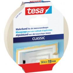 Afplaktape Tesa Classic 19mmx50m creme