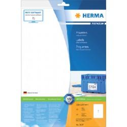 Etiket Herma 8637 210x297mm A4 premium wit 10stuks