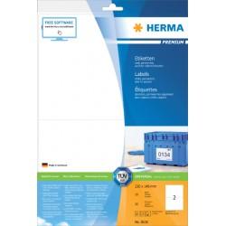 Etiket Herma 8636 210x148mm A4 premium wit 20stuks