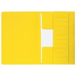 Dossiermap Secolor  Mammoet folio 3 kleppen 270gr geel