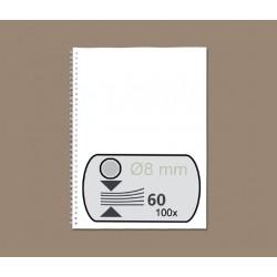 Draadrug GBC 8mm 34-rings A4 zilver 100stuks