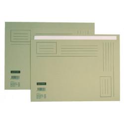 Vouwmap Quantore A4 ongelijke zijde 250gr grijs