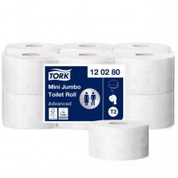 Toiletpapier Tork T2 120280 Advanced 2laags 170m-850vel 12rollen
