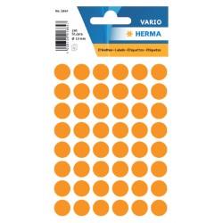 Etiket Herma 1864 rond 12mm fluor oranje 240stuks