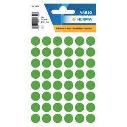 Etiket Herma 1855 rond 13mm donkergroen 240stuks
