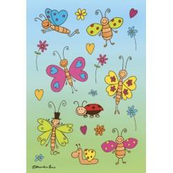 Etiket Herma 3303 grappige vlinders 24stuks