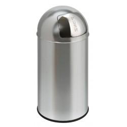 Afvalbak Pushcan matchroom met pushdeksel 40liter