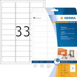 Etiket Herma 8837 63.5x25.4mm mat wit 825stuks