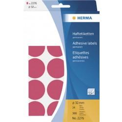 Etiket Herma 2276 rond 32mm fluor rood 360stuks