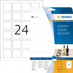 Etiket Herma 9642 40x40mm QR-code wit 600stuks