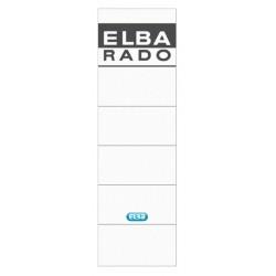 Rugetiket Elba 59x190mm zelfklevend wit/grijs
