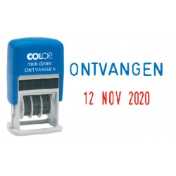 Woord-datumstempel Colop S160O ontvangen