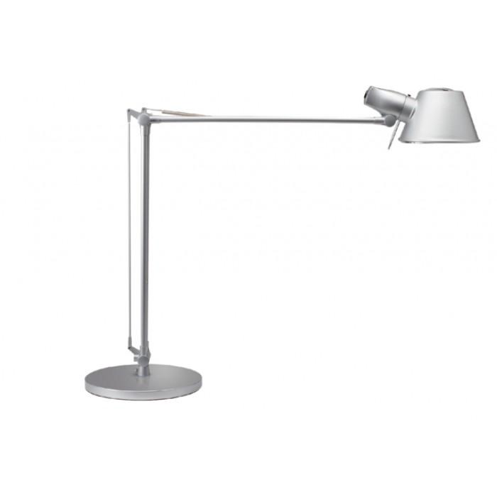 Bureaulamp MAUL Rock incl. spaarlamp voet zilvergrijs