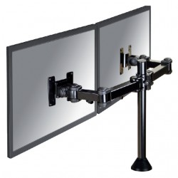 """monitorarm Newstar D960DG 2x10-27"""" op voet zwart"""