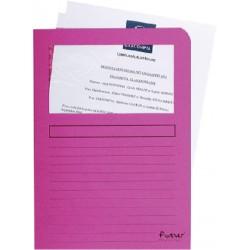 Insteekmap L-model Exacompta + venster karton roze