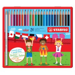 Kleurpotloden STABILO Color 979 blik à 24 kleuren