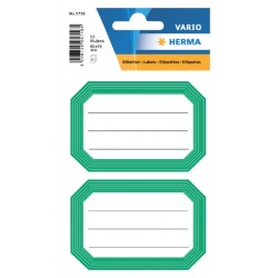 Etiket Herma 5716 82x55mm schrift groene rand 12stuks