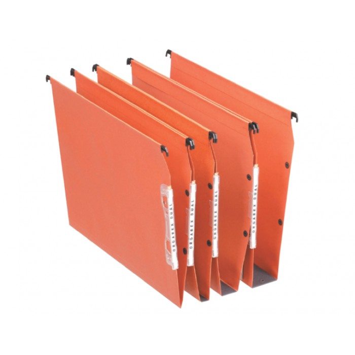Hangmap Esselte Orgarex Dual lateraal 15mm oranje