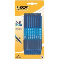 Balpen Bic Soft Feel Clic Grip blauw medium blister à 15st