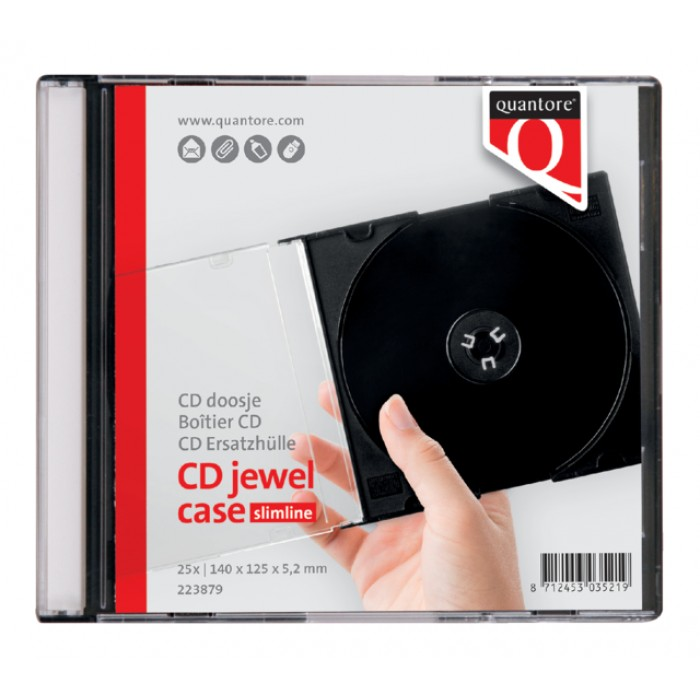 Cd doos Quantore jewelcase 10stuks leeg transparant