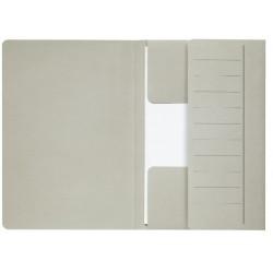 Dossiermap Secolor  Mammoet folio 3 kleppen 270gr grijs
