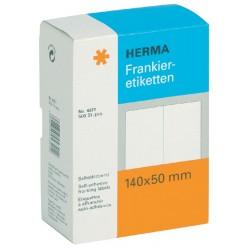 Frankeeretiket Herma 4321 140x50mm 500stuks dubbel