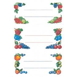 Etiket Herma 3784 keuken fruit arrangement 12stuks